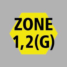 atex zone 1, 2 (gasses)
