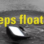 Rechargeable waterproof led work light keeps floating