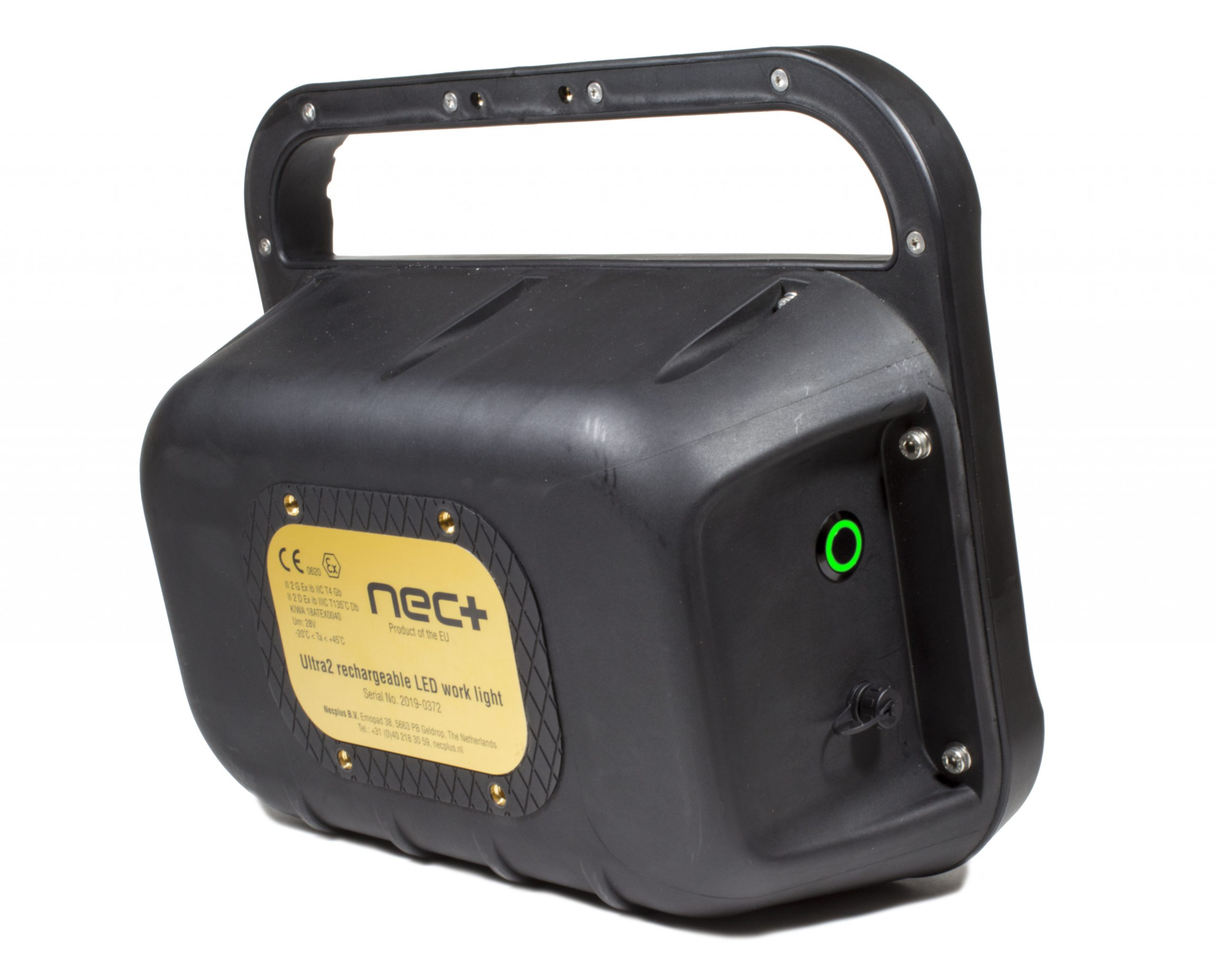 atex rechargeable ultra2 led floodlight-back